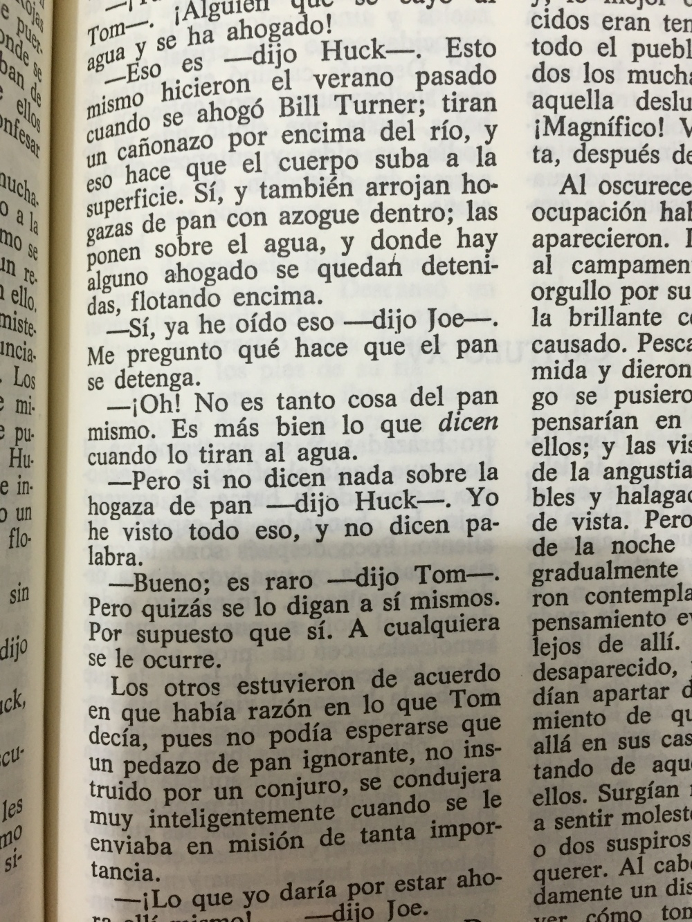 Fragmento del libro las aventuras de Tom Sawyer de Mark Twain