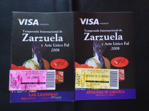 Temporada de zarzuela 2008