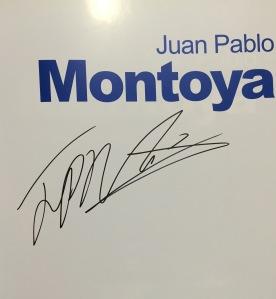 Autógrafo de Juan Pablo Montoya