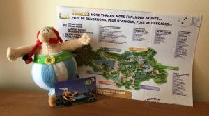 Mapa y entrada al Parc Astérix