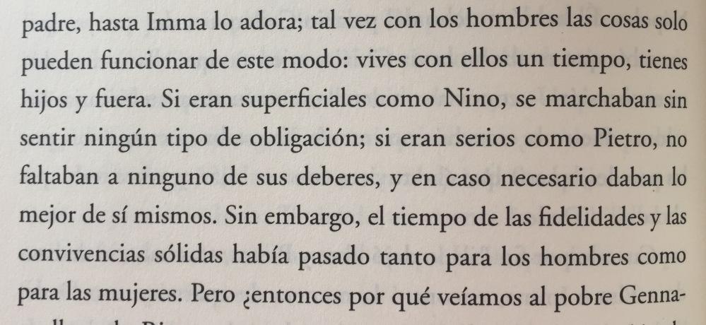 Fragmento de La niña perdida de Elena Ferrante