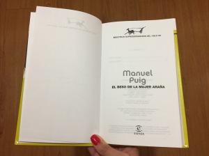 Libro El beso de la mujer araña de Manuel Puig
