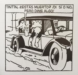 Viñeta del libro Tintín en el país de los soviets de Hergé