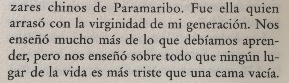 Fragmento del libro Crónica de una muerte anunciada de Gabriel García Márquez