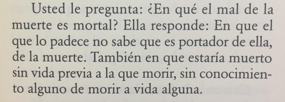 Fragmento del libro El mal de la muerte de Marguerite Duras