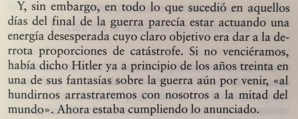 Fragmento del libro El hundimiento de Joachim Fest