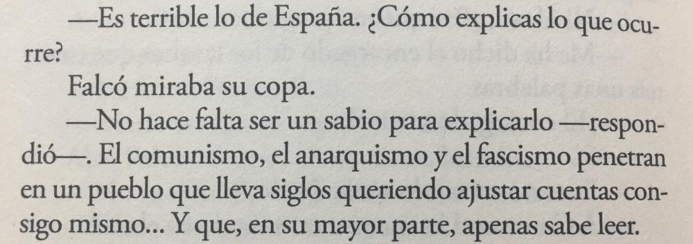 Fragmento del libro Sabotaje de Arturo Pérez-Reverte