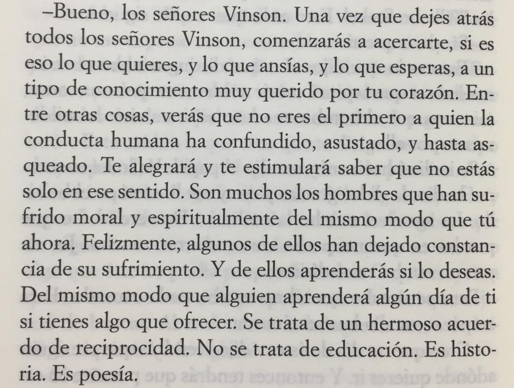 Fragmento del libro El guardián entre el centeno de J.D. Salinger