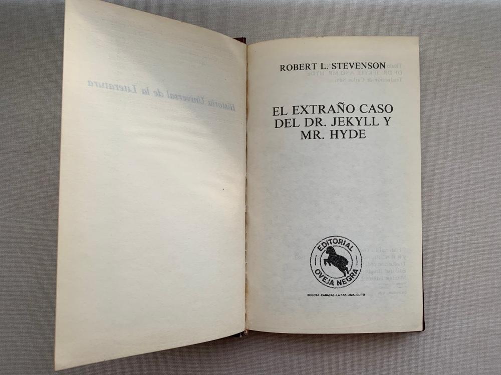 Libro El extraño caso del Dr. Jekyll y Mr. Hyde de Robert Louis Stevenson