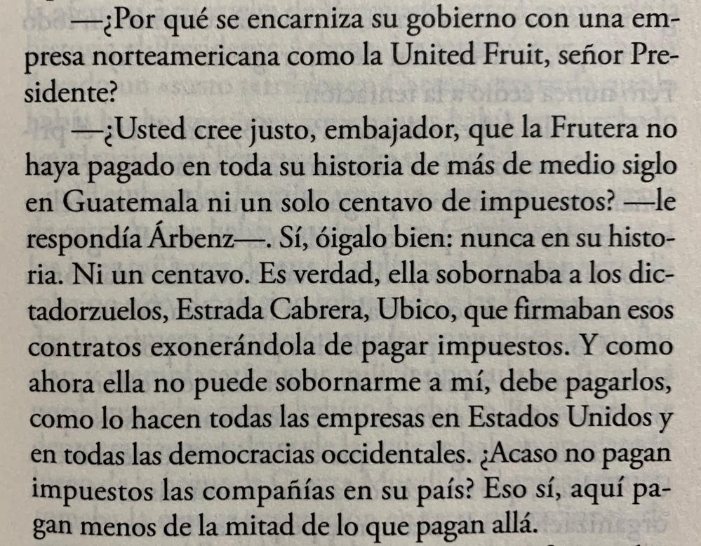 Fragmento del libro Tiempos recios de Mario Vargas Llosa