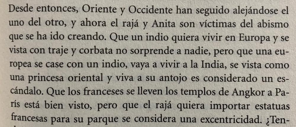 Fragmento del libro Pasión india de Javier Moro
