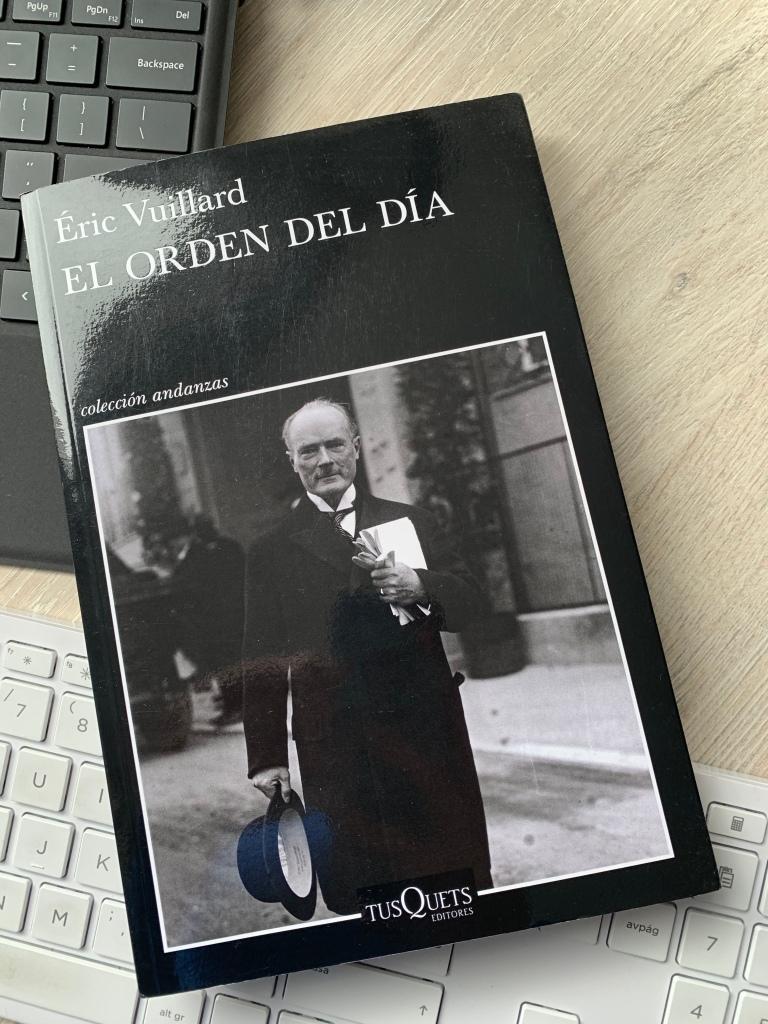 Libro El orden del día de Éric Vuillard